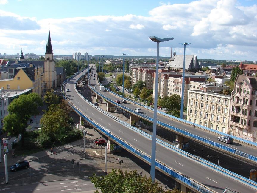 Eine grüne Hochstraße für Halle(Saale)