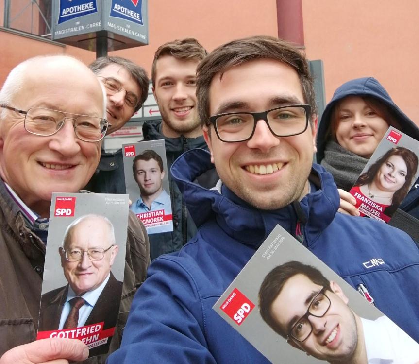 Vor Ort und ansprechbar – Infostände der SPD Halle-Neustadt zurKommunalwahl